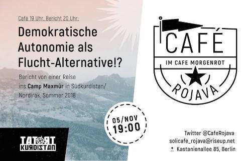 Berlin | Café Rojava | 05.11.2018 | Maxmûr