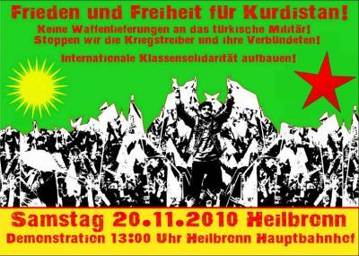 Heilbronn, 20.11.2010, Aufruf zur Demonstration